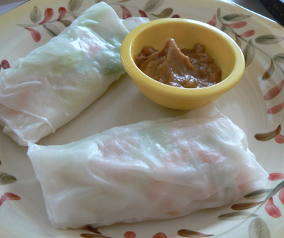 Vietnames Shrimp Salad Rolls ready