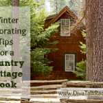 winter decorating country cottage